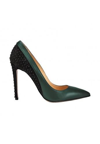 Decoltè bicolore Verde/Nero